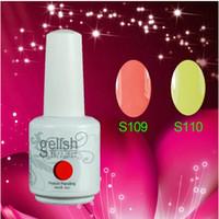 Soak-off Gel Polish   Free shipping 100pcs lot 15ML 2014 Gelish Nail Polish Soak Off UV Gel polish 242 Fashion Colors