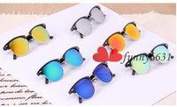 PC ancient shields - summer metal half color restoring ancient ways mirror sunglasses sunglasses Dazzle colour brand sunglasses T140