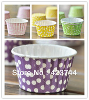 Wholesale cute little dots bulk High temperature baking greaseproof paper muffin cupcake liners cases wrappers