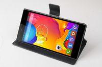 al por mayor iocean x7-Funda de cuero personalizada protector PU de la contraportada para X8 x7 iocean Mini Smart Phone postal 3 Colores