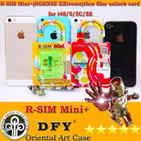 Wholesale R SIM Min i RSIM Mini Extreme mm Thin Film Unlock Card for iphone S C S iOS7 iOS