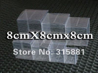 Wholesale PVC clear packing box x8x8cm