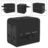 Wholesale DC V A USB Port amp Sockets Power Charger Adapter With AU US UK EU Plug World Travel Universal For Camera Mobile Phone