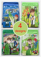 Backpack Style Unisex Plain Children Cartoon Ben 10 Drawstring Backpack Bag, 4 Designs Can Choose, Best Birthday Party Gift For Kids, 35X27cm, 4pcs lot