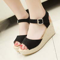 Wholesale Women open toe vintage style sandal women s fashion high heeled waterproof platform wedge shoes ladies sandals