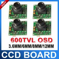 OEM Guangdong, China (Mainland)  4pcs lot 600TVL High Resolution 1 3 Sony CCD Sensor 6mm Manual Lens Security PCB Board Camera