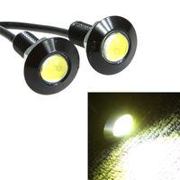 Wholesale 2x1W White High Power Car LED Angle Eyes Leed Car Daytime Running Lights Lamp DRL Vehicle Auto Backup Tail Light Bulb