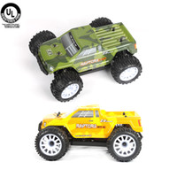 Wholesale 1 Scale Miniature Model Car Brushless Motor KV WD Electric Truck Kit Remote Control Toys Green Yellow