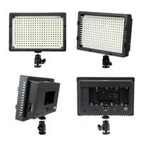 Wholesale NanGuang Pro CN LED Video Light Lamp K Adjustable for Canon Nikon Pentax DSLR Camera DV Camcorder