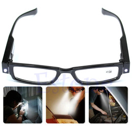 Wholesale Multi Strength LED Reading Glasses Eyeglass Spectacle Diopter Magnifier Light UP PY