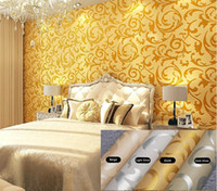 Wholesale 2014 Fashion European Style PVC Wall Paper Rolls Wallpaper Suitable for Bedroom Living room