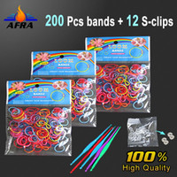 Unisex 12-14 Years Multicolor 200 pcs Rainbow Loom Bands Kit with 12 pcs S-Clips Bracelet Colorful Rubber Bands Amazing Gift for Children Mixed Colors Handmade DIY Hot