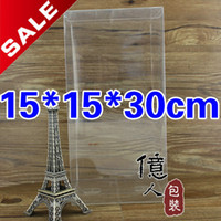 Wholesale Delicate clear package box PVC material cm displaying dried food stationary cosmetics cakes etc