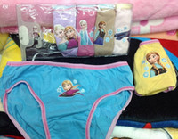 Wholesale free shpping New Baby Girls Frozen Children s Underwear Pure cotton Snow and ice colors briefs