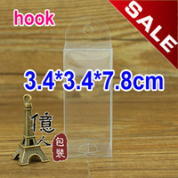 Plastic Apparel Yes Customizable! PVC clear plastic box with hook used to display stationery,car models,cosmetic ect. 3.4 * 3.4 * 7.8CM .Hot!