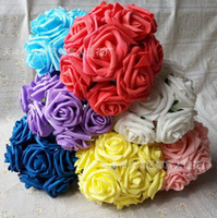 Wholesale 100pcs Dia cm Artificial Simulation PE Foam EVA Camellia Rose Wedding Christmas Bridal Flower