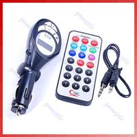 Wholesale New Car MP3 Player FM Transmitter USB Pen Drive SD MMC Slot Black PY