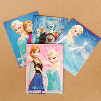 Wholesale Frozen Cartoon quot x4 quot Kids Coloring Book with Stickers Drawing book Children Gift Hotsale