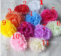 Wholesale 100pcs Dia cm Artificial Simulation Carnation flower heads DIY flower