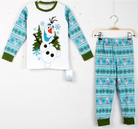 Boys Girls Children's Cute Outfits Clothing Frozen Olaf Paja...