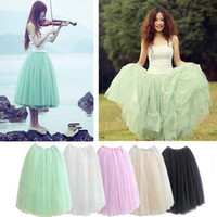 Wholesale 2016 Summer Skirts women s maxi skirts Bohemian beach skirt bubble skirt mesh Chiffon expansion Mini skirt tutu girl dress party dress
