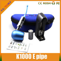 Cheap Black E Pipe K 1000 Best Metal Electronic Cigarette 18350 battery