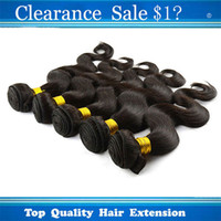 Brazilian Hair beauty supplies - Clearance Sale Virgin Brazilian Human Hair Cheap Beauty Supplies Natural Black Color Hair Weft Body Wave Wavy Healthy Hair