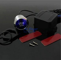 Wholesale 1pcs Universal LED Illumination Auto Car Keyless Engine Starter Ignition Push Start Button Switch With Retail Box C0082