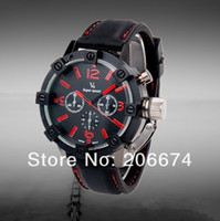 Unisex Round 24.8 New V0045 Men's Sport Wrist Watch with Metal Case, Plastic Band, Quartz Movement, Black & Blue Dial (Red,Blue)+free shipping