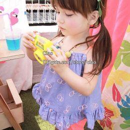 Wholesale Children Clothes Kids Tshirts Baby Cute Tank Tops Children Condole Belt Girls Tank Tops Child Clothing Kids Condole Belt Girls Condole Belt