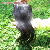 Cheap Queen hair products free style natural color Malaysian Mongolian Peruvian Brazilian Indian Virgin hair straight Silk Based top lace closure