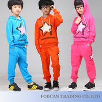 Wholesale Casual Hoodies Pant Boy Winter Sports Sets Size cm Fashion Design Children Clothing Suits Z512139