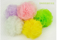 Wholesale Bath Shower Body Bubble Exfoliate Puff Bathing Sponge Mesh Net Ball