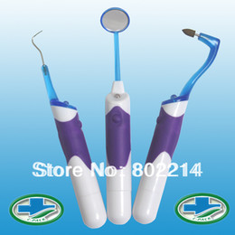 Wholesale 3 in LitPack Teeth Whitening Professional Dental Oral Tool Kits LED Dental Mirror hook Pick Eraser go tartar dentist equipment