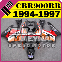 Wholesale Heymanspeedmotor Aftermarket ABS Fairing For Honda CBR900RR CBR RR Repsol Red Orange H94H01 Free Gifts