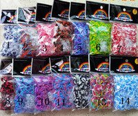 rainbow loom rubber band - Four sections Colorful looms Rainbow band loom Colorful Rubber bands blending band S clips hook toys children