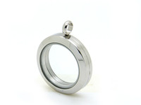 Wholesale Stainless Steel Silver Plain Round Magnetic Floating Charm Lockets mm and mm are available