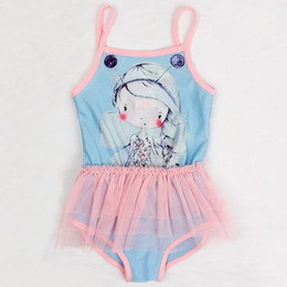 Wholesale Cute girls swimwear cartoon cute monokinis bathing suits Children swimsuit one pieces kids swimwear for girls R4740