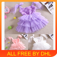 Cheap TuTu baby girl wedding dress Best Summer Pleated cute baby girl clothes
