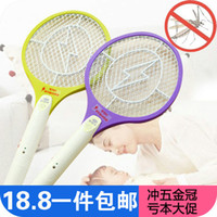 Wholesale 4180 candy colors with energy saving LED Rechargeable Cordless Mosquito swatter mosquito racket environmental