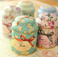 shipping container tin - European Style Flowers Storage Tin Box Tea Caddy Candy Container Gift Box