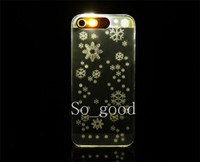 Wholesale Luxury Stunning Bling Bling Cellphone Flash LED IC Hard Cover Case for iPhone S S DHL