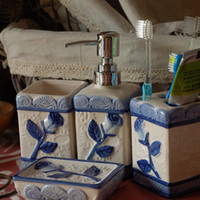 Yes china ceramic category ceramic ware accessories for bathroom bathroom sets gift set novelty items Ceramic wash bathroom set bath sets and accessories