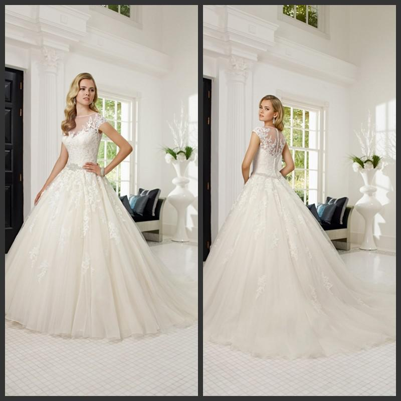 2014 Latest Graceful Ball Gown Wedding Dresses Ronald Joyce 68017 ...