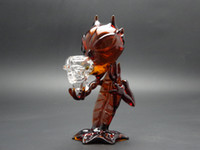 Glass amber colored glass - Brand new Amber colored Demon Glass pipes Devil glass smoking pipes glass water pipes with cm height