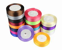 Wholesale Reel Of mm Single Sided Satin Ribbon Select Candy wedding Value Yards