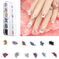 Wholesale 2000pcs set Colors MIXED DIY Nail Tools Acrylic Rhinestore Decoration Nail Tips Brilliant Glitter Nail Art Colorful Diamond H10657