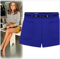 Shorts Women Mini ZA Fashion 2014 spring -summer new show thin shorts plus base pants leisure shorts women brand high waist shorts palazzo pants
