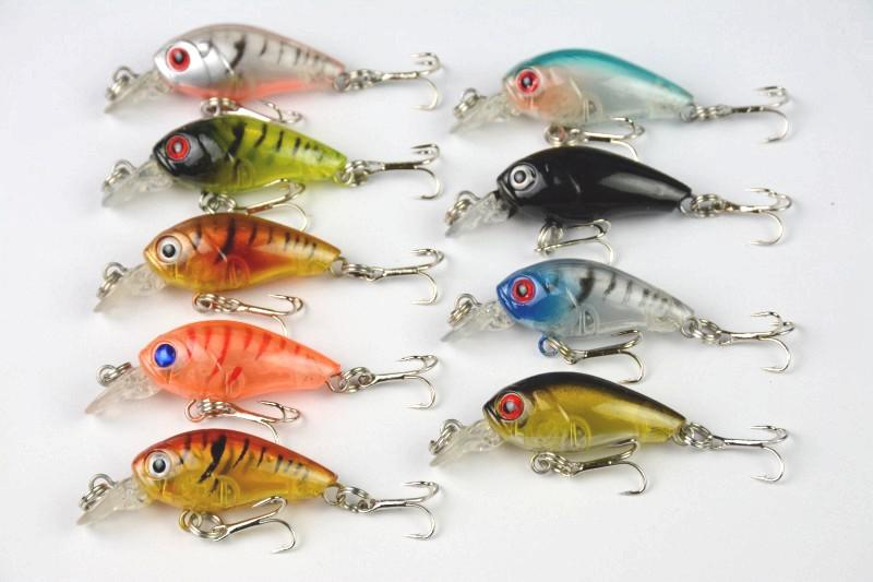 mini crankbait wobbler fishing lures 4.5cm/4g plastic artificial, Fishing Bait