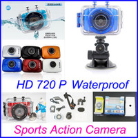 Wholesale 720P HD Sport Action Camera and Car DVR Extreme Sports Helmet Camera Waterproof Sports Video Camera Camcorder DV Inch Touch Screen